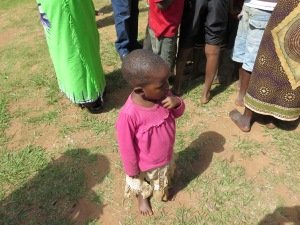 A young beneficiary of the health presentation