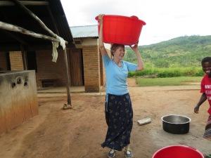 Helen with 40 liter bucket