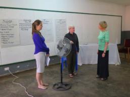 Sarh, Karen and Helen at Training