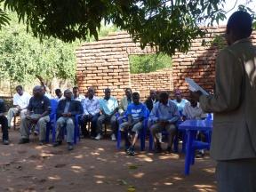 Speeches at the village