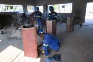 Preparing the steel mould