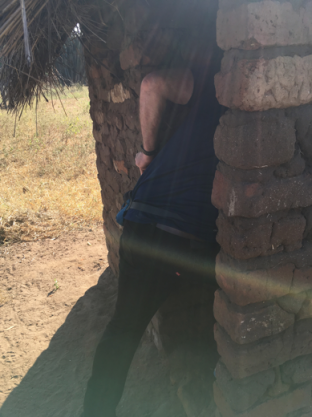 Jerry checking latrine